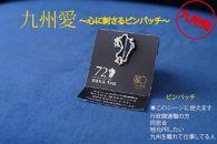 IH03-1072nana-tsu小倉織ピンバッチ(青黒)