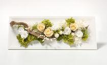 【ギフト用】生花の風合いをそのままに…プリザーブドフラワーアレンジL ホワイト