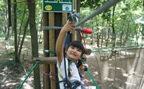 【4名様分】森の空中散歩!フォレストアドベンチャー・おおひら 体験チケット(初級コース)