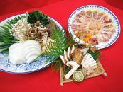 地鳥熟成シャモすき焼きと丹波松茸セット 2~3人前(焼き松茸用柚子しょうゆ付)<入荷次第随時発送>