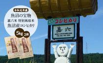 【先行予約】【令和元年産】(5㎏×2袋)魚沼の宝物 嘉六米特別栽培米魚沼産コシヒカリ