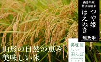 BS009【特別栽培米】つや姫・はえぬき無洗米食べ比べセット(計10kg)