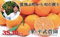 蛍飛ぶ町から旬の便り 有田みかん(10kg3Sサイズ) 平武農園