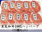 【ギフト用】A5ランク黒毛和牛100%ハンバーグ【10個】
