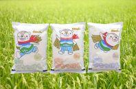 令和元年産 特Aランク 無洗米 旭川産ななつぼし6kg(2kg×3)「あさっぴー」米袋仕様