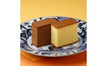 【AB007-NT】<松翁軒> カステラ1.0号・チョコラーテ0.6号詰め合せ