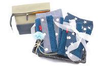 抱っこひも収納カバー「ルカコ2柄抱っこひも用よだれカバー2柄革と帆布の折りたためる大きめポーチ5-1.5