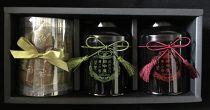 茶壺缶入武州茶・和紅茶・バームクーヘン詰合せ