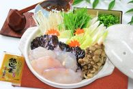 【贅沢絶品!魚介鍋だしの素付き】水揚げ日本一、下関の5kgアップの大物だから旨い!あんこうのちり鍋と唐揚げのコラーゲンぷるぷるセット!