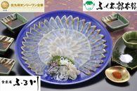 FK19-20【小倉ふく創作料理店 食楽庵ふる川】 ふく刺身食べ比べセット
