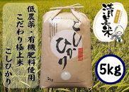 【低農薬】こだわり極上米『こしひかり』5kg