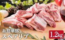 糸島華豚スペアリブ約1,2kg入り