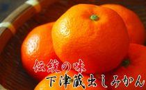 【紀州伝統の味】下津蔵出しみかん 3kg【混合サイズ】