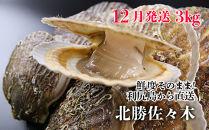 2019年12月発送!北海道利尻島から直送!活ホタテ3kg【北勝佐々木】