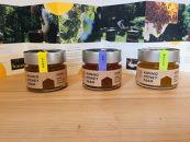 【クマ出没注意!!】北海道産天然ハチミツ/タンポポ、百花蜜、菩提樹(150g×3本セット)