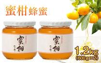 <国産>みかん蜂蜜1.2kg【600g×2個】福岡県八女市で収獲した完熟みかん蜂蜜