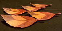 あざやか木の葉の銘々皿 桧箱入り5枚セット