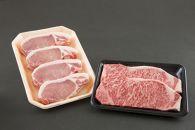 BM229-NT【大商金山牧場】 山形牛・米の娘ぶた贅沢ステーキセット