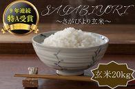 【ポイント交換専用】【R1年収穫米】佐賀県産『さがびより(玄米20kg)』