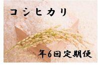 【2020年度産先行受付】中山町産美味しいお米!年6回定期便「コシヒカリ」合計60Kg