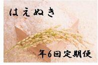 【2020年度産先行受付】中山町産美味しいお米!年6回定期便「はえぬき」合計60Kg