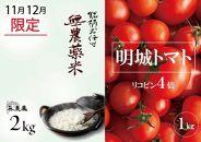 《7月まで延長!!》リコピン4倍トマト&無農薬米2キロ