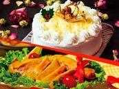 ★クリスマス限定!★ケーキ&チキンセット「レアチーズケーキ&スモークチキン」