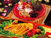 ★クリスマス限定!★ケーキ&チキンセット「ベリーレアチーズタルト&スモークチキン」