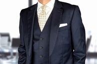 【受注生産】匠の技術で織り上げるシルク100%のモザイク小紋柄ネクタイ(ライトイエロー)