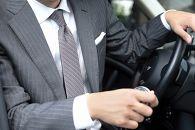 【受注生産】匠の技術で織り上げるシルク100%のマイクロ小紋柄ネクタイ(ライトグレー×ピンク)