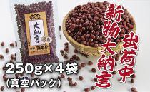 令和2年産 丹波篠山産 大納言小豆(2L) 250g×4袋(真空パック)