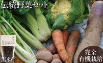 【完全有機無農薬】竹田カタツムリ農園の伝統野菜セット黒米付き