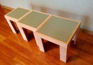コンパクトスタイルの三連重ねスツール(椅子 イス いす)