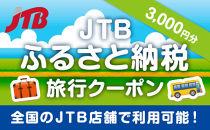 【奥州市、水沢、胆沢】JTBふるさと納税旅行クーポン(3,000円分)