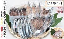 【25尾以上届く】老舗ひもの屋職人の「訳あり干物大満足BOX(ミニ)」鯛開き入りでお届けします!