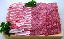 【ギフト用】[てらおかの能登牛]わさびで食べる能登の焼肉セット(350g×2)