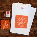 EcarlateオリジナルTシャツ(白・Mサイズ)、ステッカー、ピンバッチセット