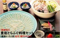 【数量限定】豊後とらふぐ料理セット(養殖4~5人前)白子・焼きひれ付き