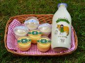 ラブリー牧場の濃厚ジャージー牛乳とスイーツ2種(レアチーズケーキ・プリン)セット