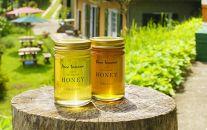 【定期便】農園セレクト「ながさき樹々の花ハチミツ」200g瓶×2本<3か月毎全4回お届け>