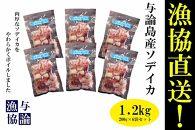 【与論漁協直送!!】】ソデイカ下足ボイル1.2kgセット