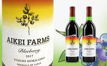 ◆ふるさと納税限定◆2017年産ブルーベリーワイン2本セット<アイケイファーム余市>