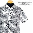 琉球紅型の型紙デザインから生まれた「語れるシャツ」【WHITE】XL