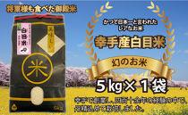 【令和2年新米】幻のお米 日本一美味と言われた白目米 5kg