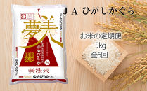 【お米の定期便】ゆめぴりか5kg《無洗米》全6回