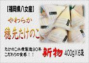 【2020年5月配送予約限定】福岡県八女産 新物 やわらか穂先たけのこ 400g×6袋
