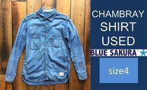 CK11 【size4】CHAMBRAYSHIRTUSED