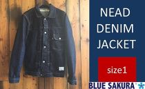 CK16 【size1】NEAD DENIM JACKET