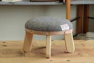 【HARRISTWEED】まぁるいスツール子供椅子イスキッズ【N/ブラウンヘリンボーン】