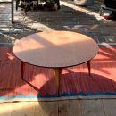 折りたたみ式の丸い座卓(小)【カントリーチェア】